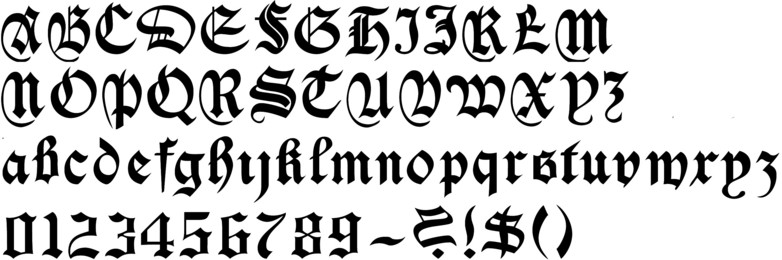 Old English Calligraphy Alphabets Old english font 37