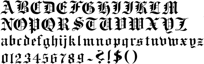 schrift old english
