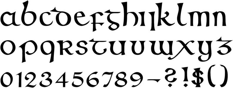 Callifonts half uncial style calligraphy fonts