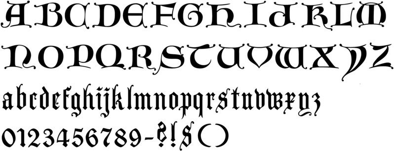 Callifonts lombardic gothic style calligraphy fonts