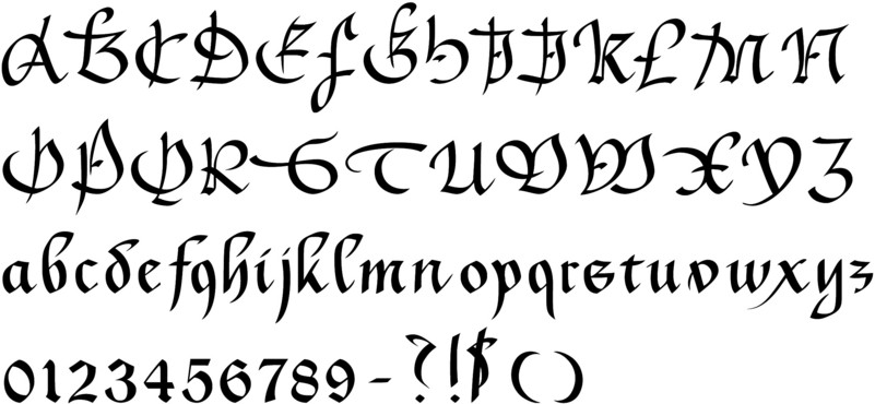 English calligraphy fonts font 45