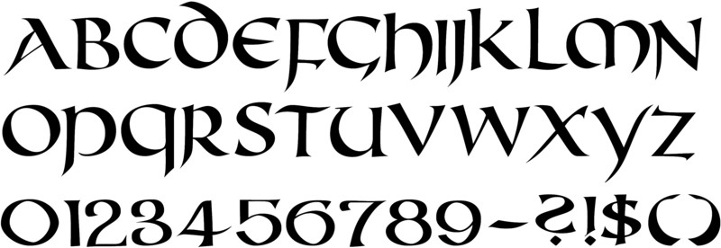 Callifonts uncial style calligraphy fonts