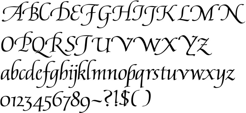 Callifonts humanist style calligraphy fonts